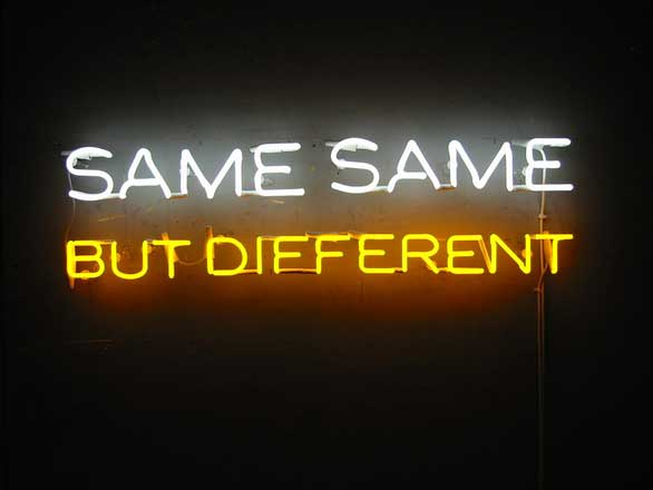 SameSameButDifferent